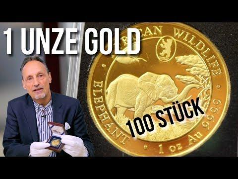 1 UNZE GOLD - NUR 100 STÜCK