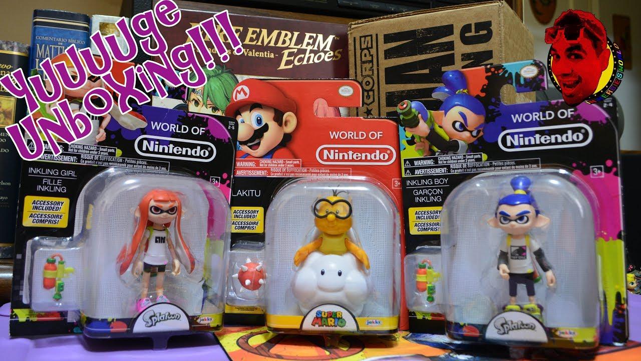 World Of Nintendo Toys And MORE Inkling Girl Boy Lakitu