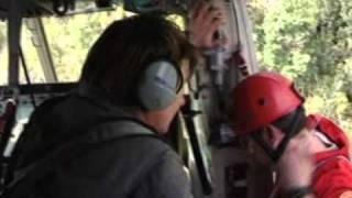 Elicottero DRAGO 54 VV.F di Genova Soccorso persone- Monte di Portofino