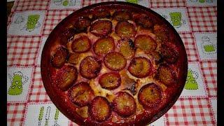 СЛИВОВЫЙ ПИРОГ.  Просто и очень вкусно!/Plum cake. A simple recipe.