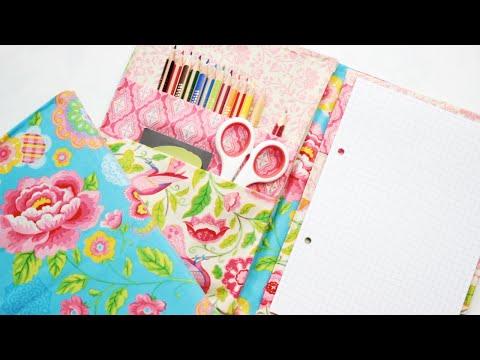 DIY: Easy NO SEW Fabric Folder - Back to School