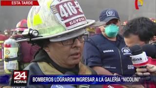 """Las Malvinas: bomberos lograron ingresar a galería """"Nicolini"""""""