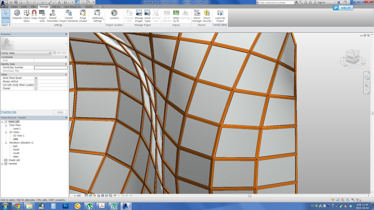 Revit Curtain Wall : Revit tips clean mullion joint at double curved curtain