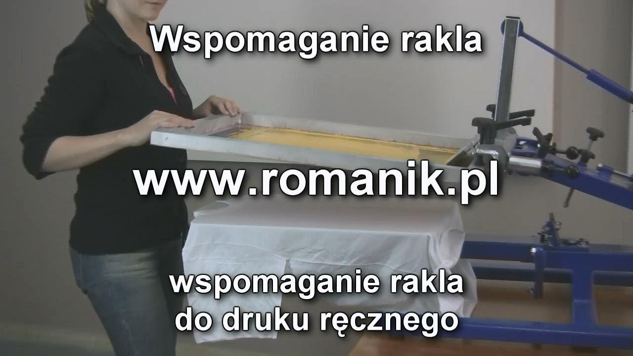 Niewiarygodnie Wspomaganie rakla do druku ręcznego. - YouTube TT71