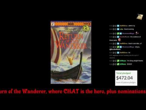 Arv streams CC Gamebook #3: Return of the Wanderer!
