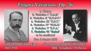 Sir Edward William Elgar (1857-1934) Enigma Variations, Op. 36 (00:...