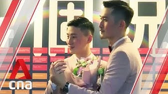 Taiwan holds first legal gay weddings in Asia