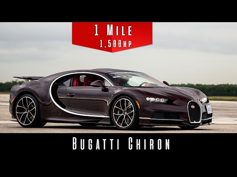 The Bugatti Chiron Can Hit 226 MPH in the Standing Mile