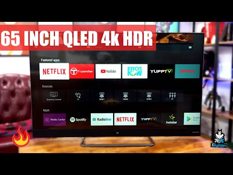 TCL X4 65 Inch 4K QLED HDR Android Certified TV First Look