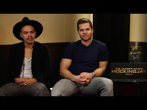 Wes Chatham and Evan Ross talk about The Hunger Games: Mockingjay  Part 2