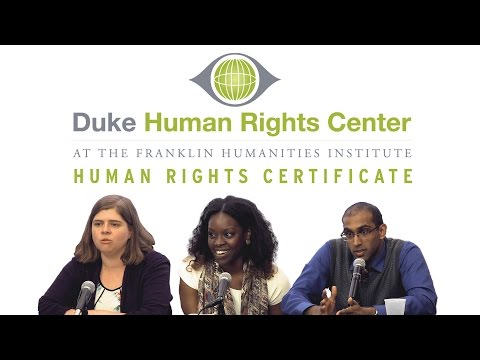 Duke's Human Rights Certificate: Global Ideas, Local Impact!