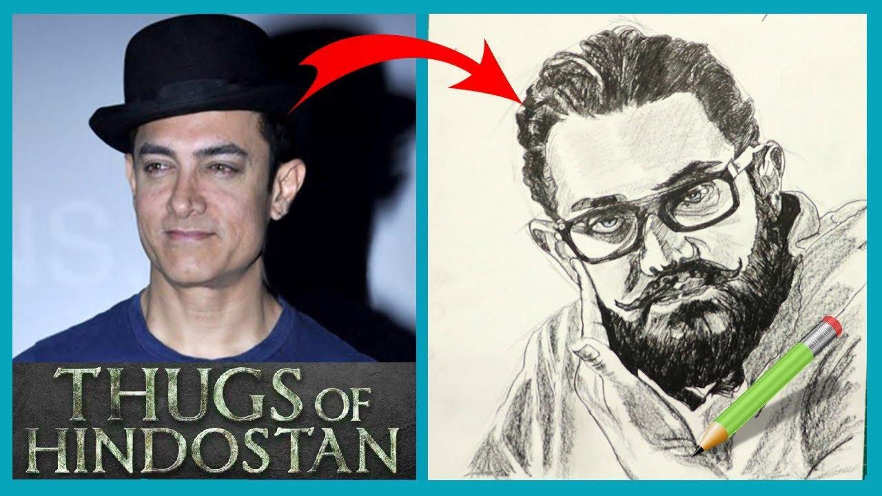 Aamirkhan thugsofhindostan pencildrawing