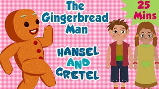 The Gingerbread Man & Hansel and Gretel | Compilation | Animated Fairy Tales For Children
