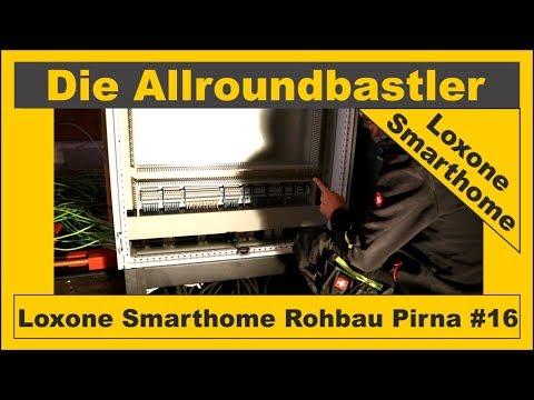 Loxone Smarthome - Rohbau in Pirna #16 - Reihenklemmen und Leitungen auflegen
