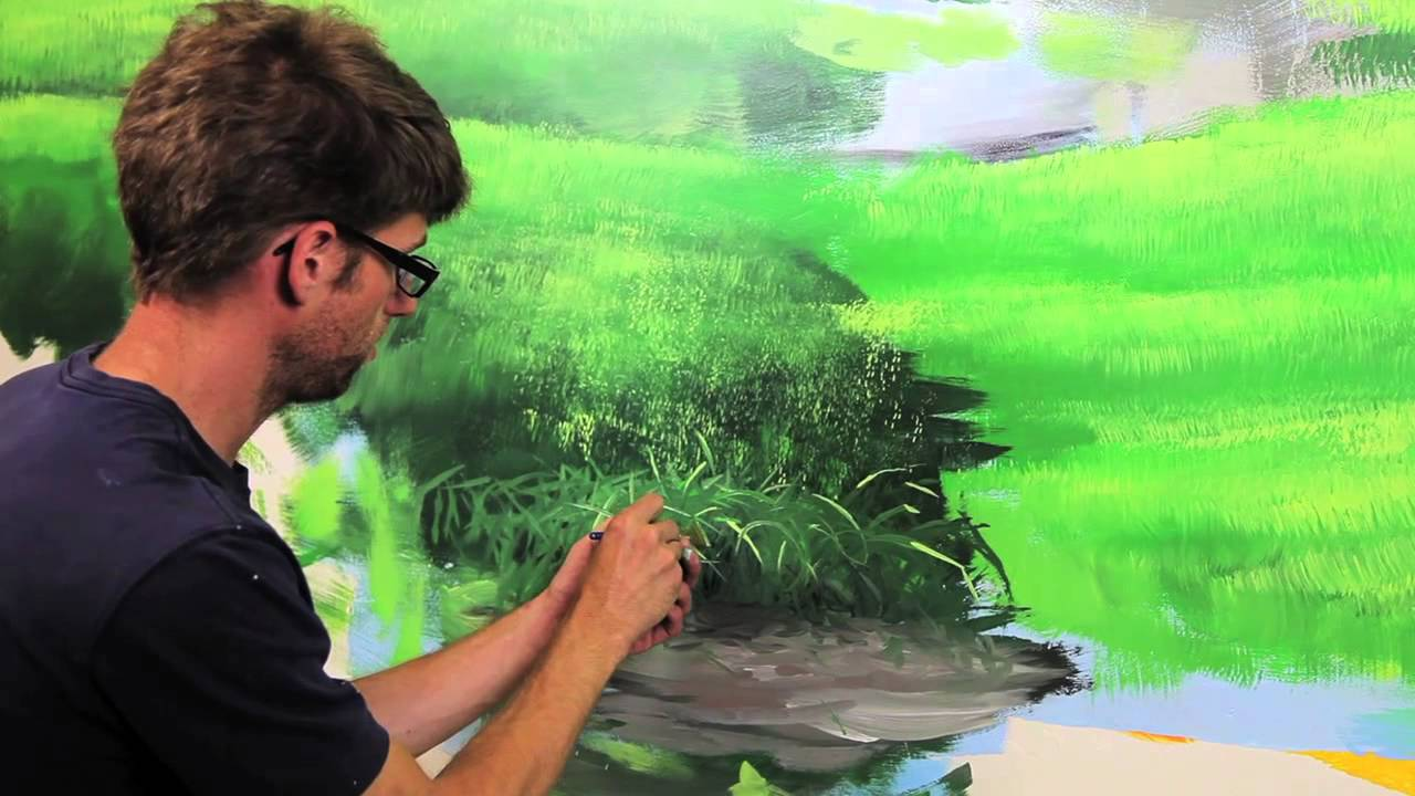 Clip from how to paint grass hills with mural joe youtube amipublicfo Image collections