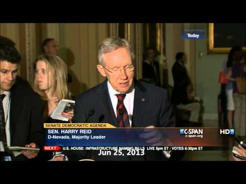 Senate Majority Leader Harry Reid (D) and the Senate Agenda - Demonize the House GOP