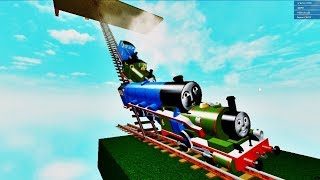 THOMAS AND FRIENDS THE CRAZY SLIDE ROBLOX!