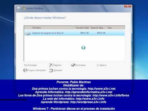 Como particionar un disco duro en windows 7 sin formatear pc o.