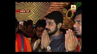Sharad Ananda: Actor Prosenjit arrives at Hazra Park Pujo with minister Sovandeb Chatterje