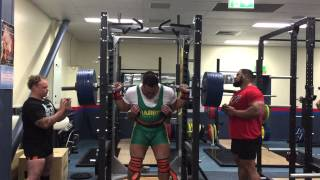 Odell Manuel - 380kg x 1 raw with wraps