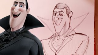 How to Draw DRACULA from Hotel Translyvania - @dramaticparrot