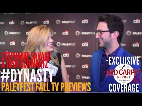 Stephanie Savage & Josh Schwartz ed at The CW series 'Dynasty' p at PaleyFest