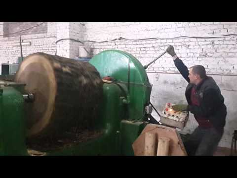 видео: Лущильный станок до 1.1 метра в диаметре