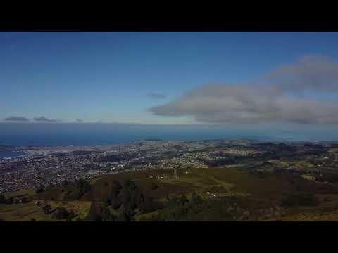 Aerial new zealand _ Dunedin & Otago peninsula