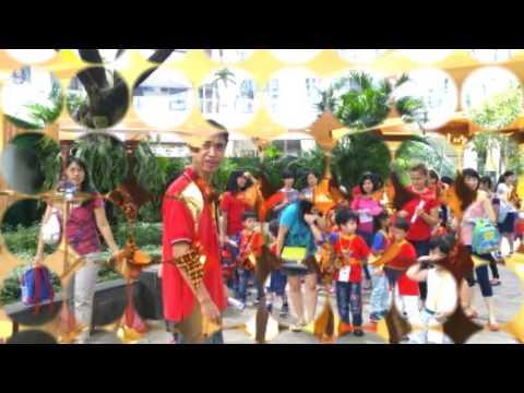 kidz castle preschool moment [barney song background]