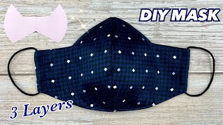 3D Face Mask Tutorial DIY Fabric Face Mask 3 LAYERS Simple Design MAKE it EASY