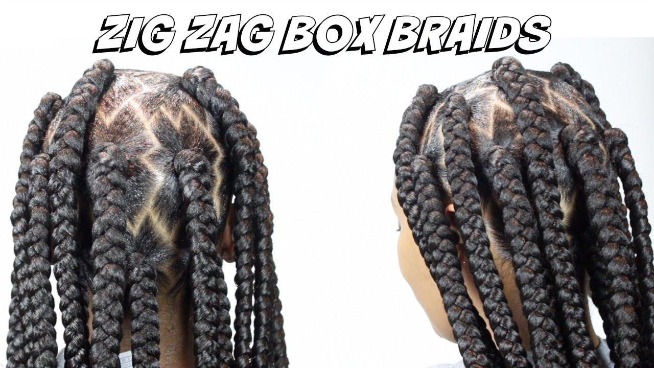 Zig Zag Box Braids , Regular Speed