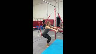 Two Female Gymnasts Perform Tricks - 1020756-2