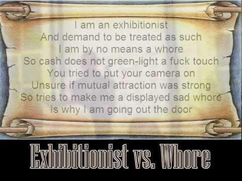 exhibitionist vs exhibitionist