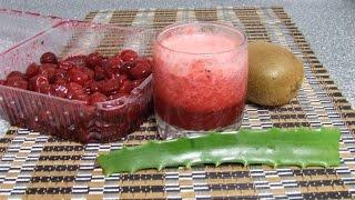 Полезный сок из алое и фруктов для очищения организма