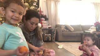 [미국육아맘] 먹보와 까불이의 하루 | 오렌지 먹방 b…
