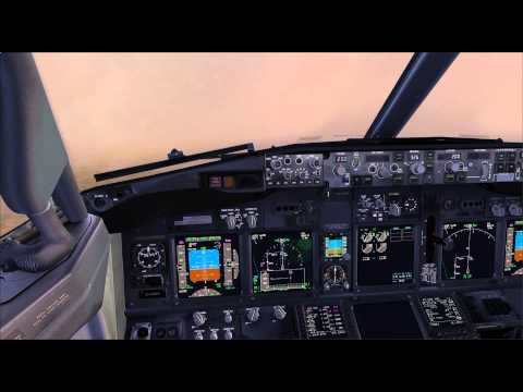 FSX PMDG 737 NGX 1080p Düsseldorf Early Morning Real Weather.avi