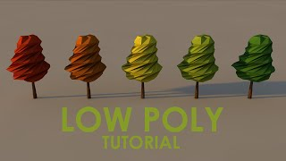 Low Poly Tree Tutorial CINEMA 4D