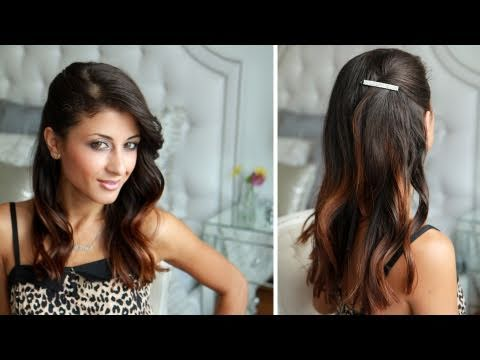 Celebrity Side Pinned Hairstyle