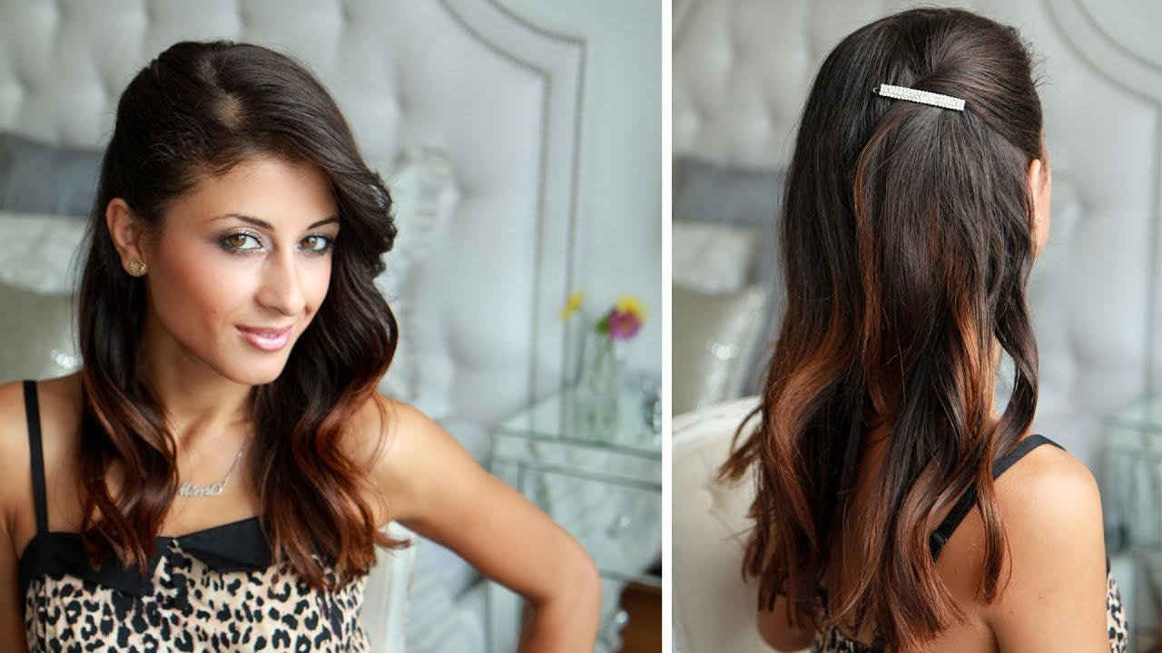 Awesome Celebrity Side Pinned Hairstyle. Luxy Hair