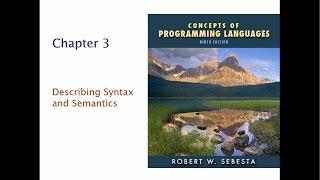 PROG1093 Project: Describing Syntax and Semantics
