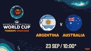 LIVE 🔴 - Argentina v Australia - FIBA Women's Basketball World Cup 2018 (Geo-Rest.)