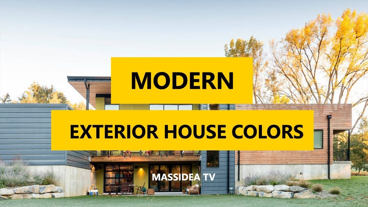 45+ Best Modern Exterior House Colors Ideas 2018 - YouTube on Modern House Painting Ideas  id=70388