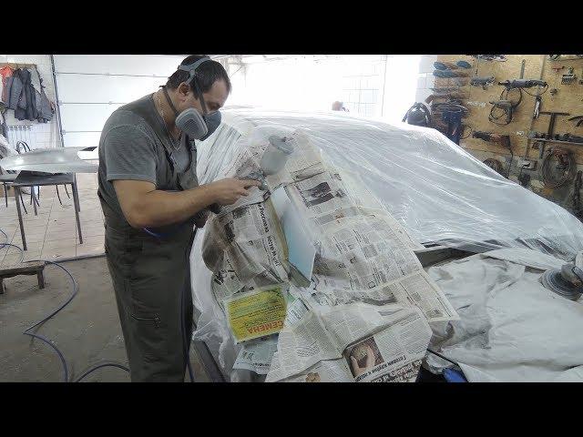 Грунтуем, наносим герметик и готовим к покраске. Киа церато Часть 3