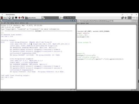 Python code to find my IP address, run on Raspberry Pi/Raspbian Jessie