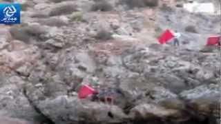 Le drapeau marocain sur l'île de Badès