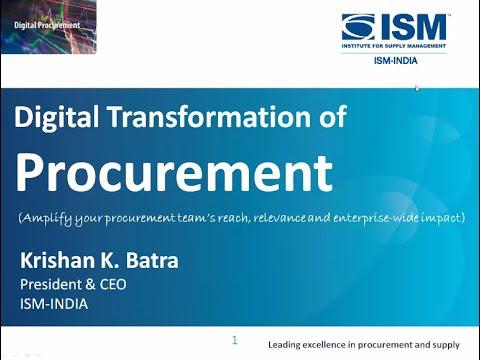 Virtual Training Session on Digital Transformation of Procurement