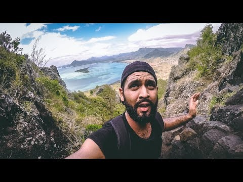 I promised I wouldn't FALL!!! Hiking le Morne!!