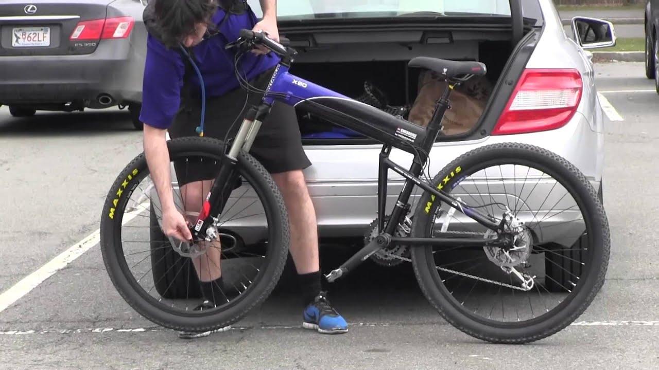 Swissbike X90 - Full-Size Folding Mountain Bike - YouTube