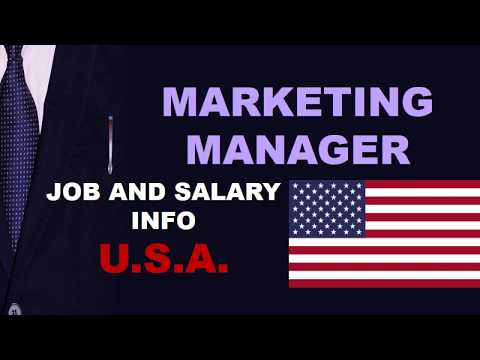 Marketing Manager Salary In The USA - Jobs And Wages In The United States