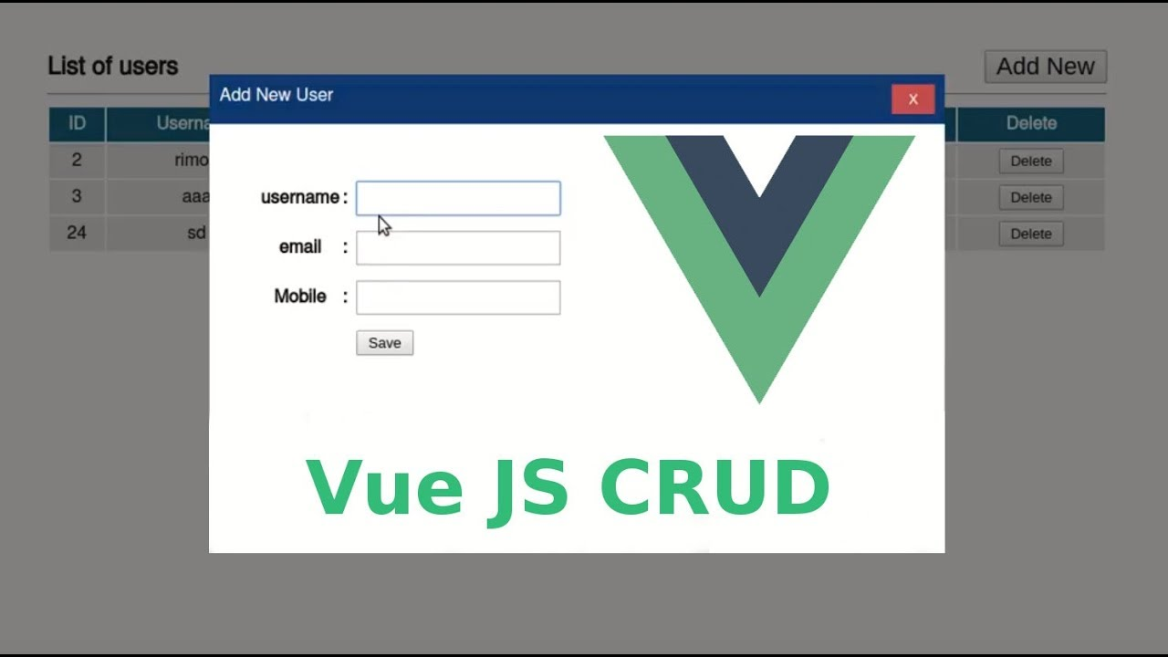 VueJS 2 CRUD with php and MySQL in Bangla: Part-1/3
